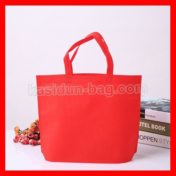 (100pcs/lot) size W33*H26*D10 cm eco-friendly reusable shopping non woven bag with logo custom