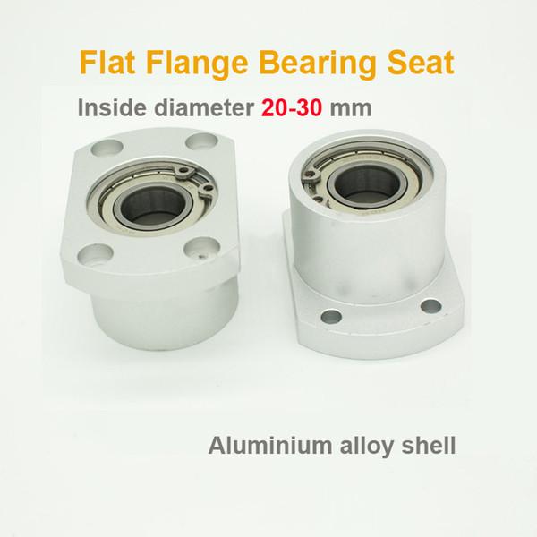 20-30 Optical Shaft Base Assembly Bearing Base Support Flat Flange Bushing Double Bearing Base