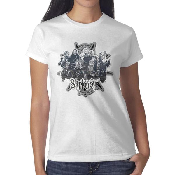 Slipknot durch ediprata weißes T-Shirt, Hemden, T-Shirts, T-Shirts, die personalisiertes verrücktes zufälliges T-Shirt des Meisters drucken