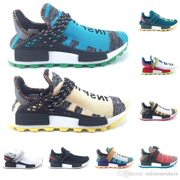 Nerd Creme Course Humaine Trail Afro Solaire Chaussures De Course Hommes Femmes Pharrell Williams Hu Runner Solarhu Pas Cher Hommes Sport Sneaker Gros