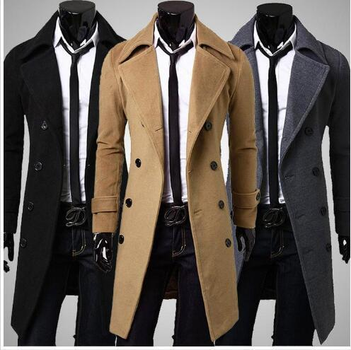 mens designer clothing trench coats winter new fashion single breasted cashmere jacket coats men overcoat casacos
