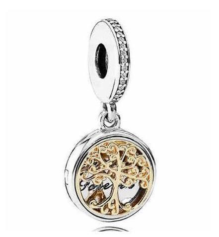 Originale 925 Roots Sterling Silver Charm oro familiari bicolore medaglione monili del pendente branello collana DIY Bracelet