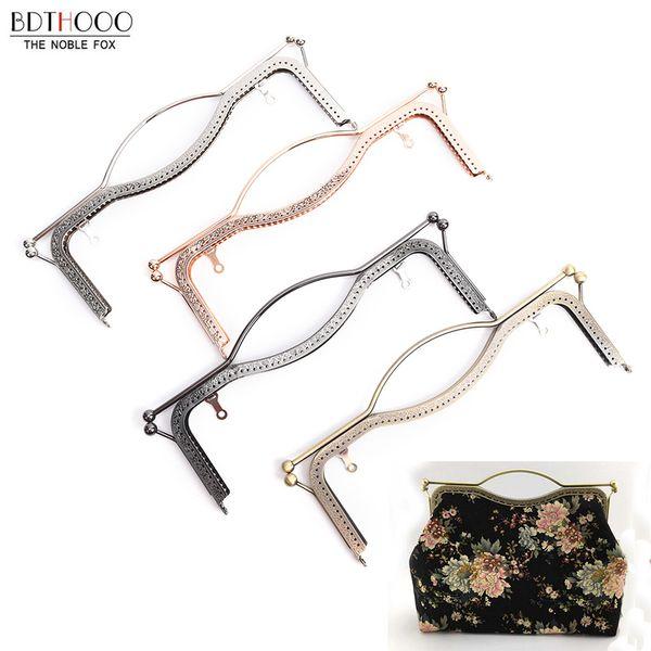 Luggage Bags Bag Parts Accessories 27cm Metal Purse Frame Handle DIY Kiss Lips Clasp Lock for Women Clutch Handmade Handbag Hardware Antique