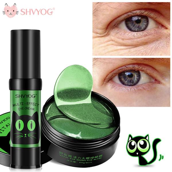 SHVYOG 60pcs Anti arrugas Parches para los ojos Colágeno de cristal Debajo de los ojos Máscara para dormir Eliminar los círculos oscuros Parche de hidrogel para la cara