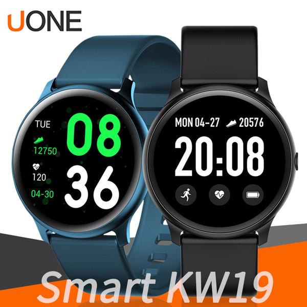 KW19 Smartwatch Bracciale Tracker Banda ultrasottile molteplici modalità Tempo reale messaggio di promemoria telecomando Musica Camera per Samsung Ios