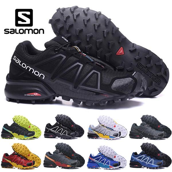 Original Salomon Speedcross 4 CS men Running Shoes black red men Lightweight trainers Waterproof jogging hiking Outdoor Shoes size 40-46