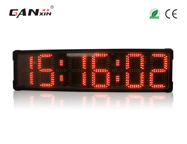 [GANXIN]8inch 6 Digits double side display led timer Outdoor Use Waterproof Marathon Sport led Countdown Timer Large Race Clock