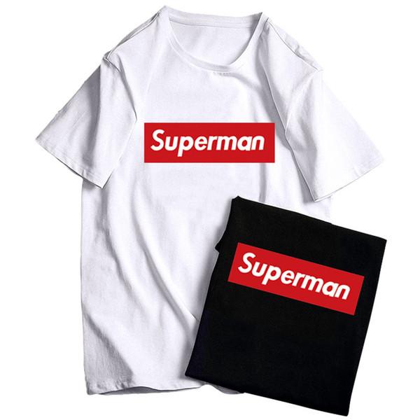 Homme T-shirt À Manches Courtes Col Rond Simple Noir Homme Femme T Shirt Chemises Noir Et Blanc Mode Décontractée Été Hommes Femmes T-shirt