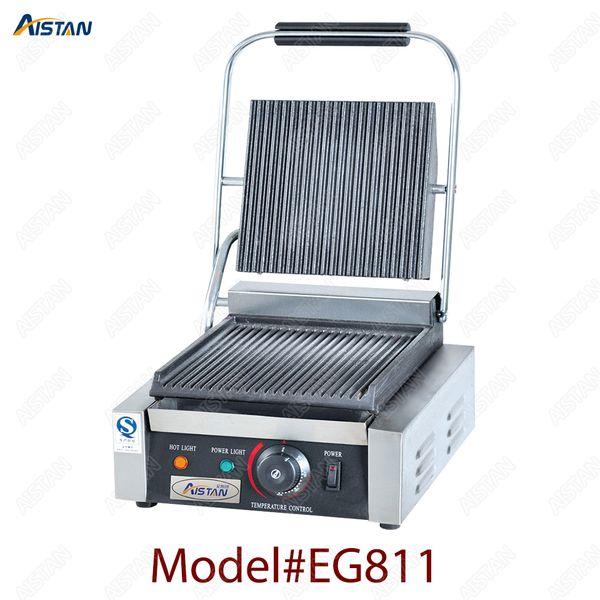 EG811/EG813 / EG815 одиночная / двойная плита коммерчески электрическая машина гриля Panini верхней части таблицы поставляя еду оборудования
