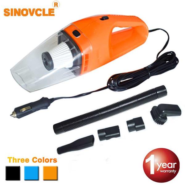 Aspiradora para auto SINOVCLE Mini 12V 120W Limpiador de doble uso húmedo y seco de alta potencia