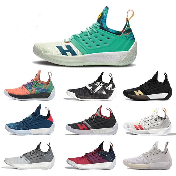 2019 2019 New Top James Harden Vol.2 Basketball Shoes Mens Harden 2 GoldChampionship MVP Finals Training Sneaker Sports Running Shoes Size 7 12 From