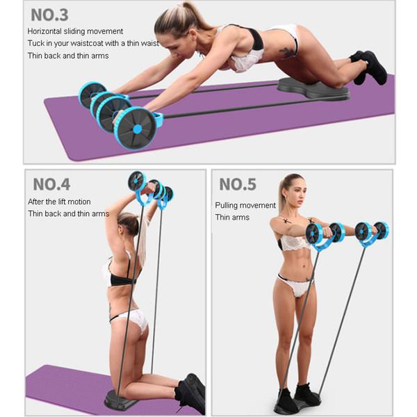 top popular Rebound Abdominal Wheel Abdominal Muscle Fitness Equipment Home Beginners Reduce Belly Thin Skin Abdomen Sports Vest Line 2021