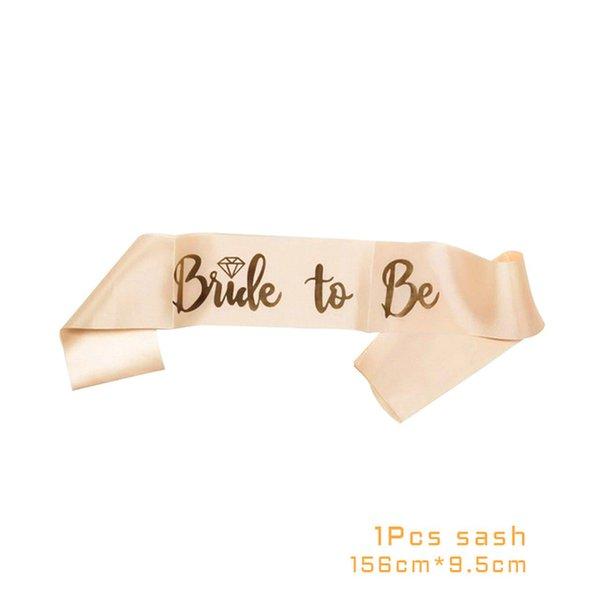 1pcs gold ribbon