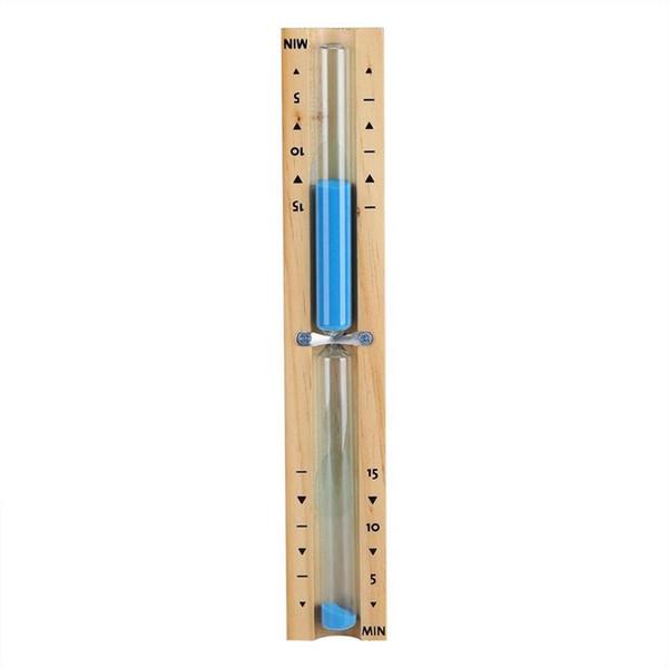 15 Minute Timer Sauna Hourglass parede Rotating Areia temporizador de contagem regressiva do relógio 15 Minute (azul)