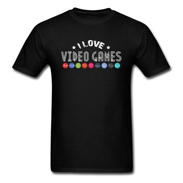 Funny Gamer Tshirt Print Men T-shirt I Love Video Games T Shirt Plus Size Tops Young Style Tee Hot Sale Summer Clothes Custom