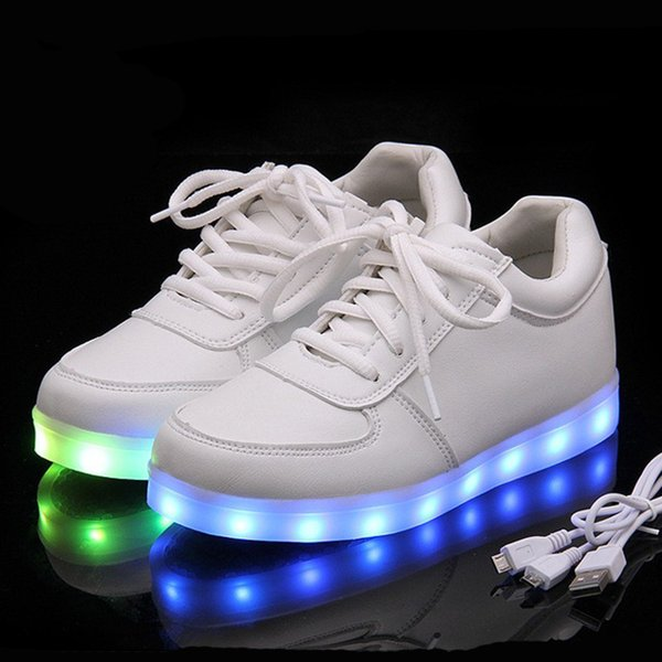 Kriativ Usb Charger Lighted Shoes For Boy&Girl Glowing Sneakers Light Up Kid Casual Luminous Sneakers Led Girl Children Shoes Y190523 Kids Girl Shoes