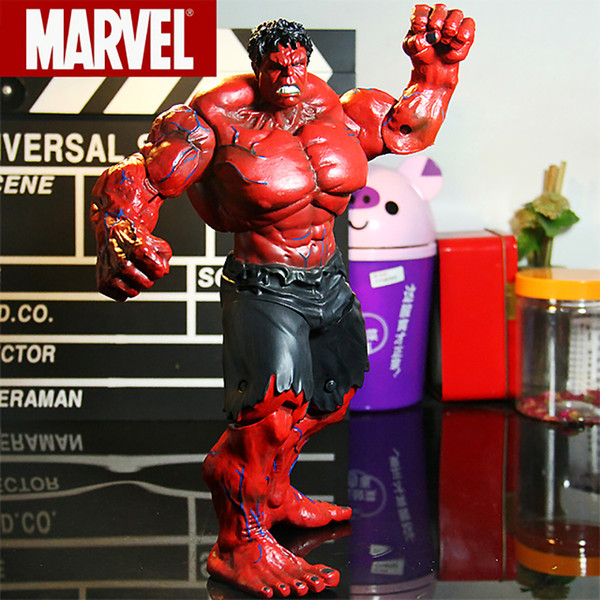 """Red Hulk Action Figure The Avengers Hulk Marvel PVC Action Figures Collectible Model Toys 10"""" 26cm"""