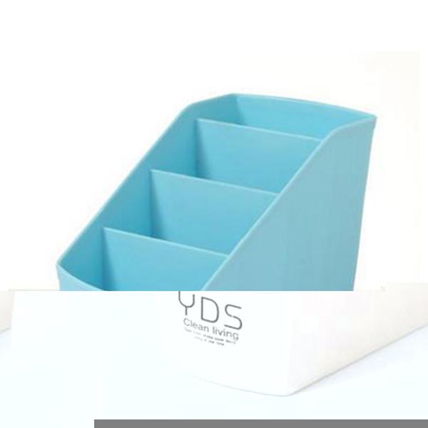 Urijk Plastic Makeup Organizer Desktop Storage Box Soggiorno Home Telecomando Contenitore Cosmetici Custodia Scatola di finitura per ufficio