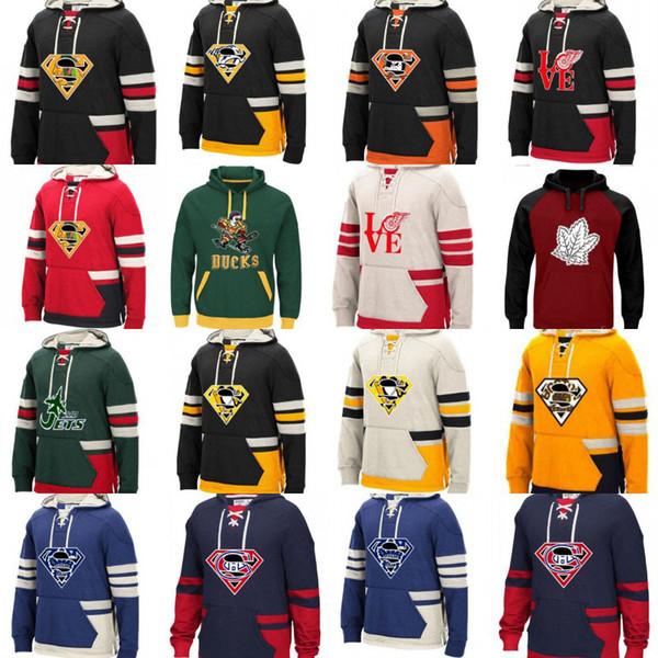 Chicago Blackhawks Anaheim Toronto Maple Leafs Nashville Predators Montreal Canadiens Vancouver Canucks Hoodie Hokeyi Formalar Ördekler