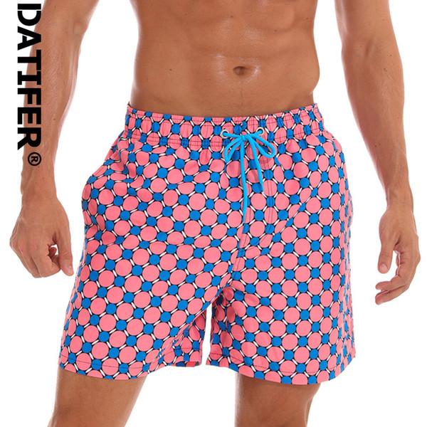 Datifer Summer Mens Board Shorts Quick Dry Mens Swim Shorts Surf Swimwear Beach Short Male Athletic Running Gym Short Man C19040801