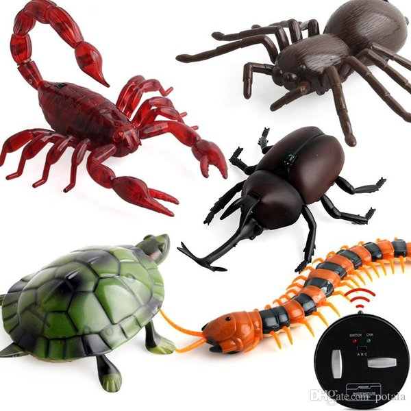 RC Insects beetle Scorpion tortoise spider brinquedos kids toys Terrifying Mischief Toys Halloween Gadgets Novelty Remote Control Animals