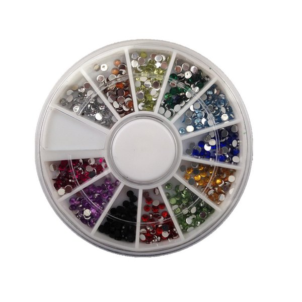 ail Art Rhinestones Decorations 1.5mm AB Color 600pcs 12 Colors Nail Art rhinestones Decoration For UV Gel Acrylic Systems+Free Shipping ...