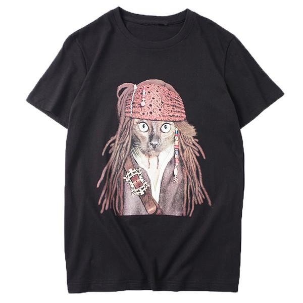 Lüks Erkek Tasarımcı T Shirt Erkek Kadın Tasarımcı Yüksek Kaliteli Korsan Leopar Baskı Kısa Kollu Erkek Yüksek Kalite Hip Hop Tees