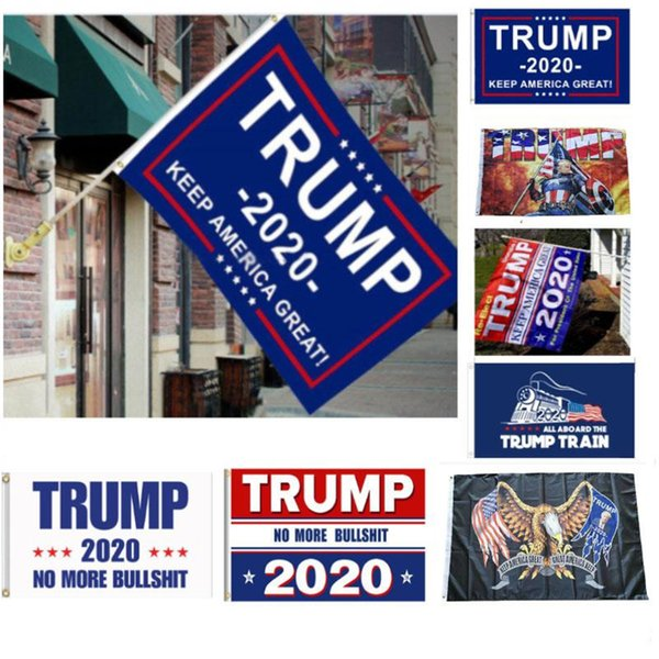 top popular 12 Styles Trump 2020 Flag Donald Trump Flag Keep America Great Donald for President Campaign Banner 90*150cm Garden Flags HN292 2021