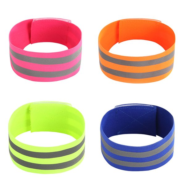 Elastic Wristbands Reflection Band 5CM Wide Night Running Warning Wrist Ankle Straps Safety Cycling Reflective Belt