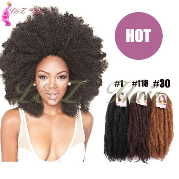 marley ombre synthetic braiding hair kanekalon crochet 18 inch 19 colors Marley Braids Hair Afropunk Kinky Curly Kanekalon Synthetic Fluffy