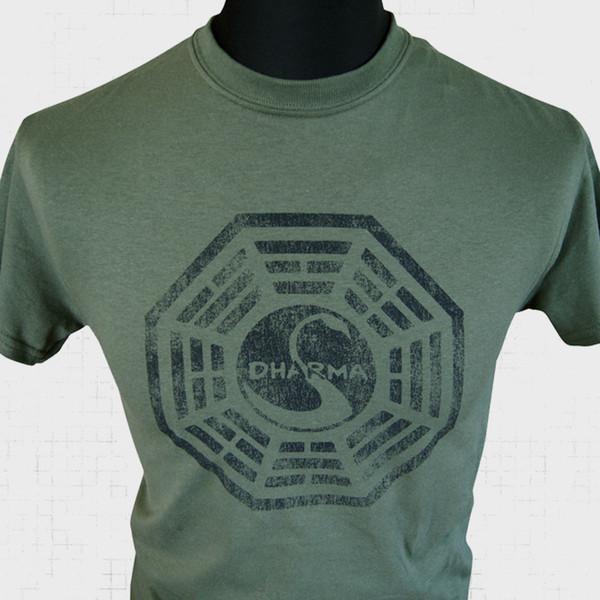 Initiative de Dharma Perdu Nouveau T Shirt Série Oceanic Rétro Vintage Cool Nouveau G Drôle livraison gratuite Unisexe Casual Tshirt