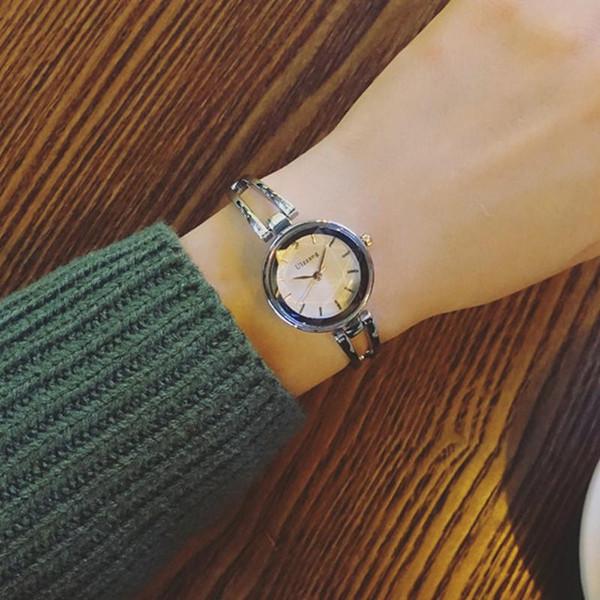 Quartz Charming Stainless Steel Bracelet Watch Women Ladies Dress Clock Elegant Luxury watches women fashion watch 2018