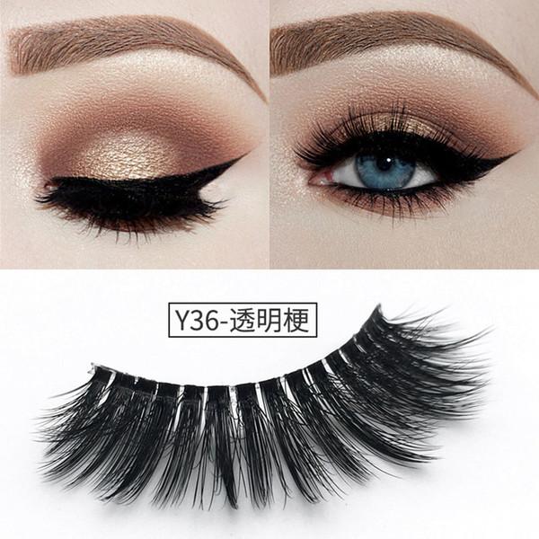 YAHLIGS Support wholesale&single Natural Bushy Makeup False Eyelashes Eye Lashes Black Soft Natural False Eyelashes YA31