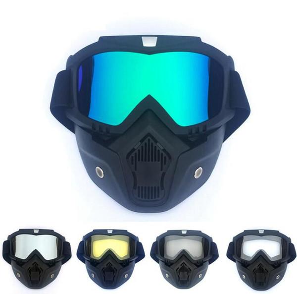 Radfahren Gesichtsmaske Brille Motorrad Racing Schutzhelme Vintage Brille Geschützte Sonnenbrillen Ski Snowboard Eyewear LJJK1353