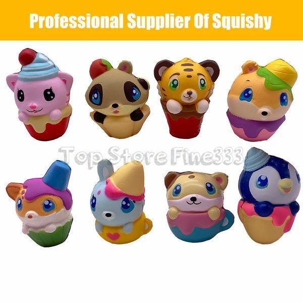 Kawaii Squishy cake cat Donut Foods Soft Squishies Phone Strap Bag Charm Slow Rising Squishy toys Jumbo Buns Phone Charms Kids Toys