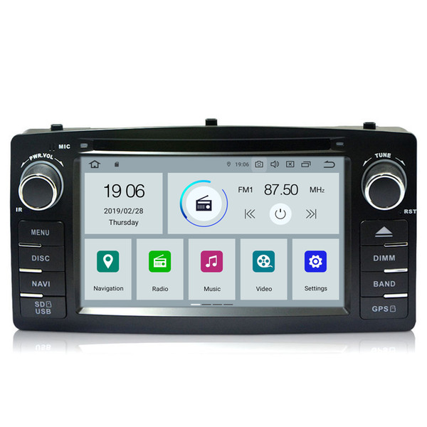 "COIKA 6.2"" Quad Core Android 9.0 System Car DVD Head Unit Radio For Toyota Corolla E120 BYD F3 GPS Navi Multimedia DVD BT WIFI 2+16G RAM"