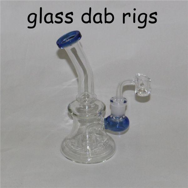 Bongo de vidro bong óleo com 4mm bong de quartzo prego de vidro bongs conjunta feminina 14mm bubbler dab equipamento de vidro cinzas coletor tigelas