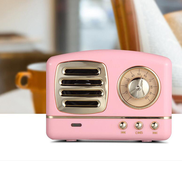 2019 Newest Vintage Wireless Bluetooth Speakers Innovative Radio Portable Mini Speaker Stereo Deep Bass FM U disk TF Handsfree Subwoofer
