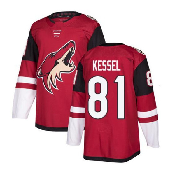 81 Phil Kessel Hot Arizona Coyotes de hockey sur glace # 16 Max Domi Jersey Red 23 Oliver Ekman-Larsson 19 Shane Doan Blank Jersey Blanc Noir