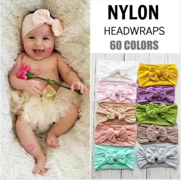 best selling New Baby Girls Bow Headbands Europe Style big wide bowknot hair band 10 colors Children Hair Accessories Kids Headbands Hairband KHA505
