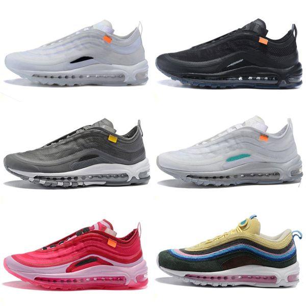 Sapatos Og Triplo branco Crianças Sapatos de Corrida OG Metálico de Ouro Bala de Prata Rosa Mens trainer Mulheres sports sneakers
