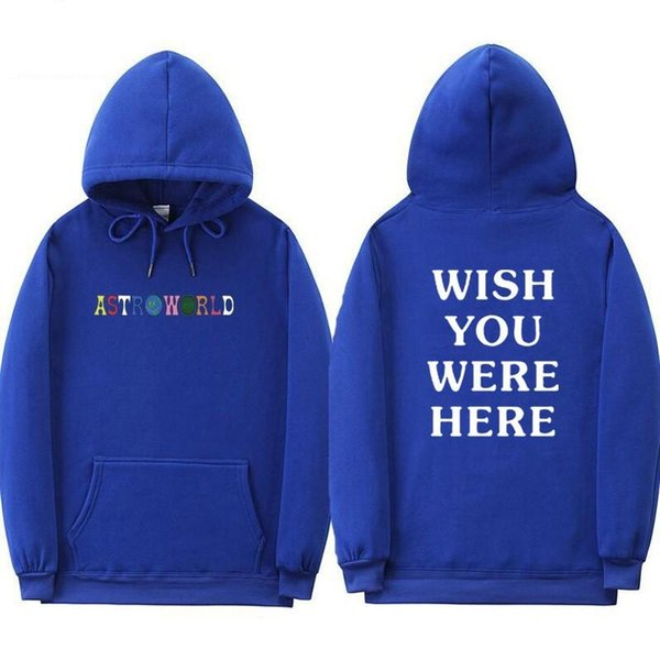 2019 Travis Scott Astroworld WISH YOU WERE HERE Hoodies Fashion Letter Print Hoodie Streetwear Man And Woman Pullover Sweatshirt W2089 From