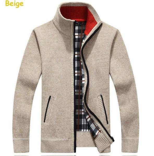 2019 Turtleneck Full Zip Cardigan Mens Jumpers Brand Christmas Men's Clothing Winter Thick Coat Cashmere Sweater Men Brand Knitted
