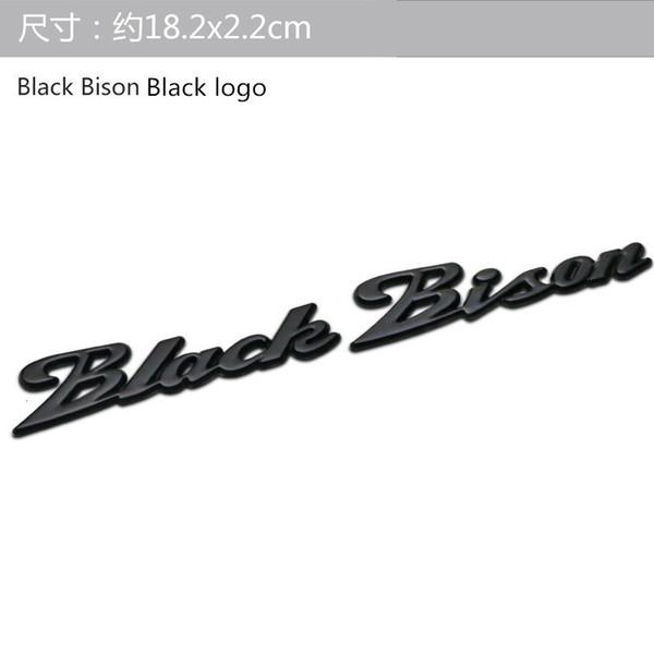 bisonte negro logo negro