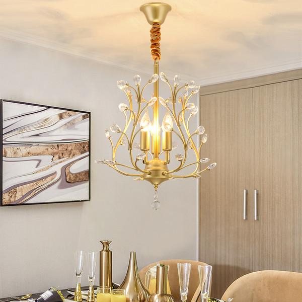 Acheter Lustre En Cristal De Luxe Moderne En Fer Forgé Allumant L\'éclairage  Pour La Salle À Manger Salon Mezzanine Éclairage À La Maison De $161.36 Du  ...