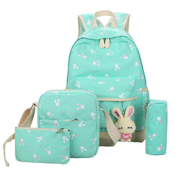 Schultaschen Für Jugendliche Mädchen Schultasche Große Kapazität Damen Druck Schule Rucksack Set Rucksack Rucksack Niedlichen Buch Taschen