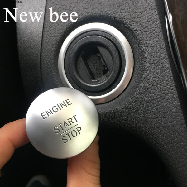 Newbee Universal para Mercedes Keyless Go Start Stop Botón del motor Interruptor de encendido Cubierta C200 A45 G55 S63 ML350 GLK350 S350