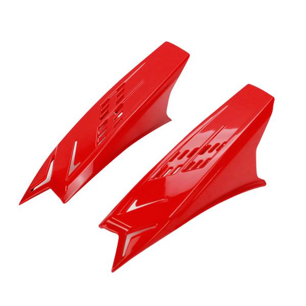 Accessori di modifica 2PCS Adesivo resistente Cattura della vista Casco di plastica Corno Nastri di protezione per sporcizia da orecchio da corsa facile da installare