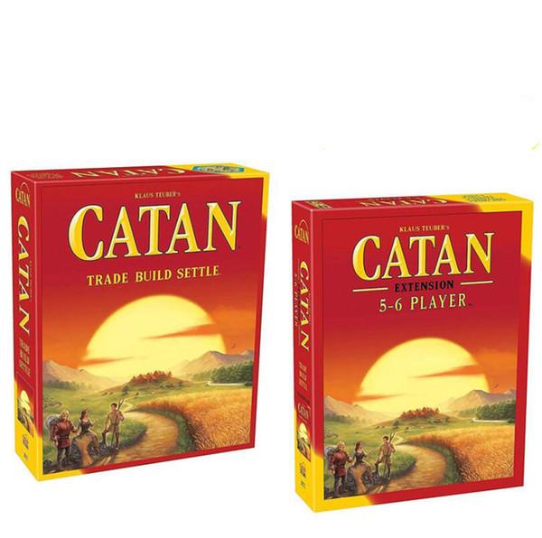 El paquete de la extensión de Settle Settle de la estructura comercial del juego de mesa de Catan en piezas de plástico juega para los niños