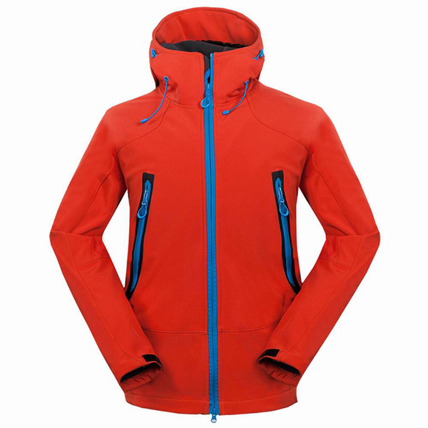 Softshell Men's Hiking Jackets Waterproof Windproof Thermal Jacket for Camping Ski Thick Warm Coats RM133